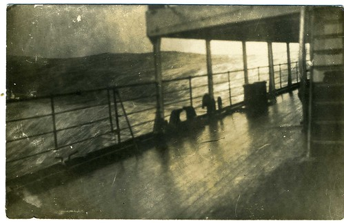 Real Photo Postcard: Shipboard In Rolling Seas
