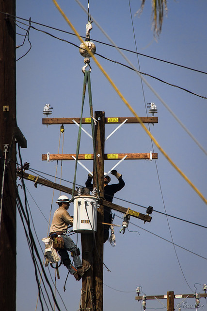Telephone pole repairs