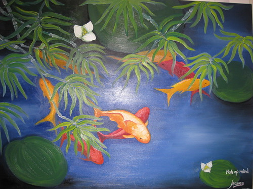 """Fish Of Mind"" (Oil on canvas 30x38, By: Jeques B. Jamora, Oct. 2007)"