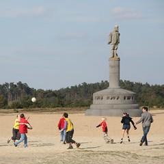 Voetbal op sand