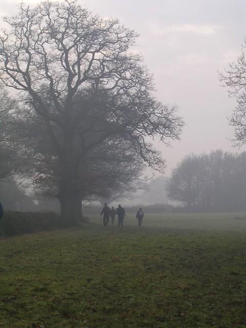 walkers in the mist