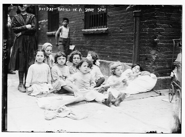 Hot day-babies in a shady spot (LOC)