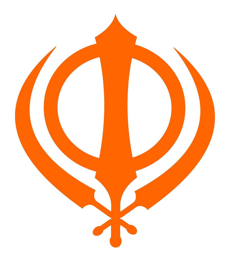 Sikh Symbol Simple Orange Khanda A Photo On Flickriver