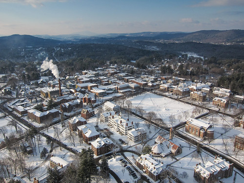 winter campus aerial dartmouth