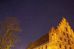 monastery and stars