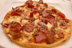 meal, breakfast, italian food, pizza cheese, pizza, meat, food, dish, european food, cuisine, pepperoni,