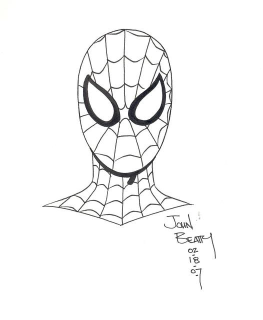 spidey sketch john beatty