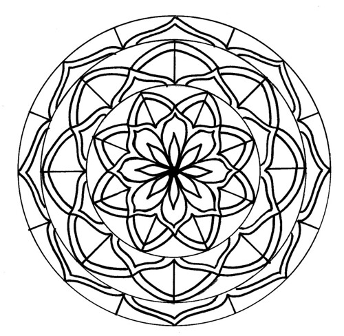 one cool picture after another mandalas for coloring. Black Bedroom Furniture Sets. Home Design Ideas