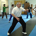 Instructor Carlan Steward leading class