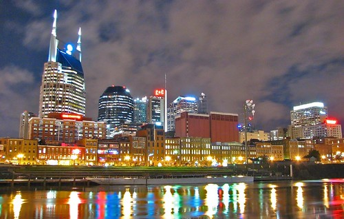 color reflection skyline night clouds buildings river downtown cityscape nashville riverside afterthestorm tennessee south riverbank cumberland riverwalk canons2is southernviews