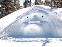 Old Man Winter Snow Sclupture
