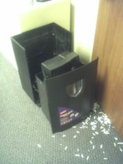 Exploding paper shredder