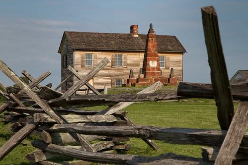 house brick history monument architecture fence virginia civilwar manassas battlefield bullrun splitrail 1861 henryhouse