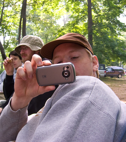 Gabe and his camera phone
