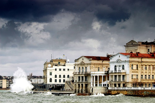 A stormy day in Sevastopol