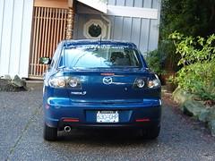 automobile, automotive exterior, executive car, vehicle, mazda, mazda3, mid-size car, compact car, bumper, land vehicle,