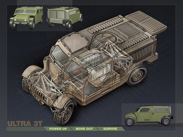Ultra 3T Armored Vehicle (Concept-Experimental)