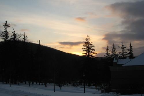 winter sunset alfred