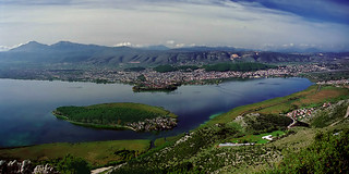 Ioannina lake from above