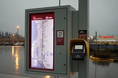 RapidRide E Line backlit map