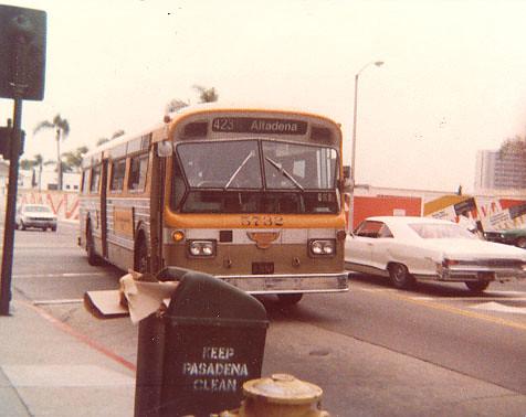 Rtd Flxible Twin Coach 5732 In Pasadena Ca Rtd Flxible