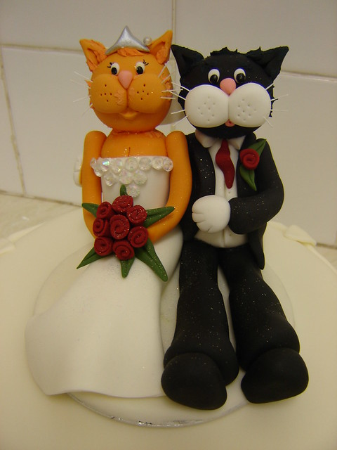 wedding cake toppers cats uk cats wedding cake topper flickr photo 26435
