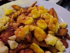 meal, poutine, curry, vegetable, sweet and sour pork, kung pao chicken, food, dish, cuisine,