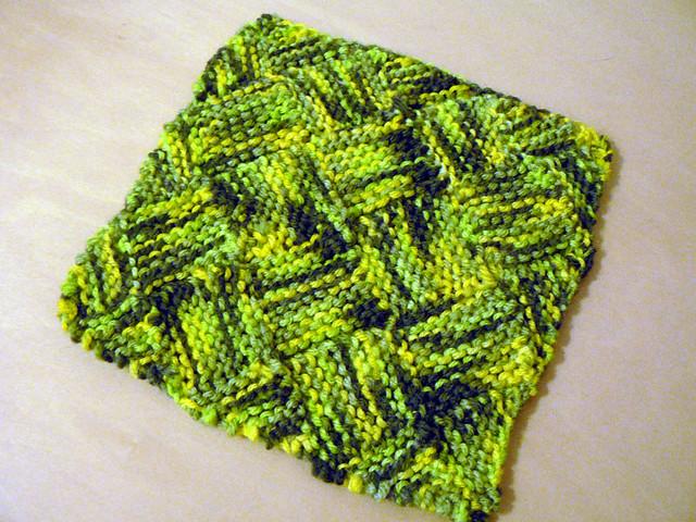 Entrelac Knitting Dishcloth Pattern : Garterlac Dishcloth Flickr - Photo Sharing!