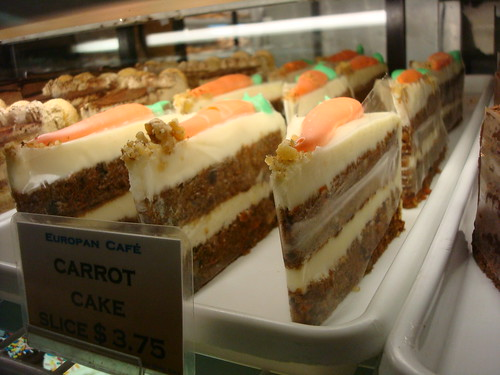 Carrot Cakes, Europa Cafe, Penn Station