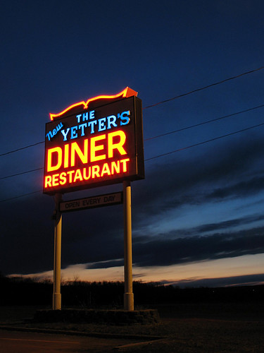sign night nj diner sussexcounty route206 yettersdiner rosscorner