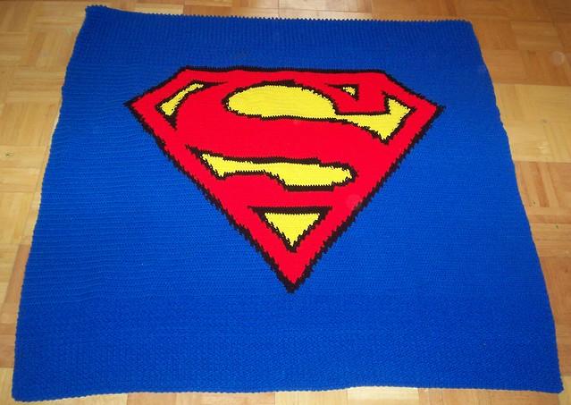 Superman Blanket without border or ends weaved Flickr ...
