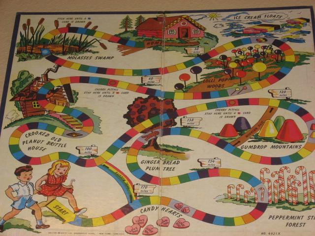 candy land board -- 1949