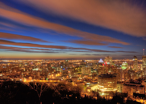 sky clouds sunrise dawn spring interesting colorful cloudy montreal olympus citylights montroyal hdr