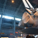 Steven F. Udvar-Hazy Center: Space Shuttle Enterprise (view of main engines from starboard side)