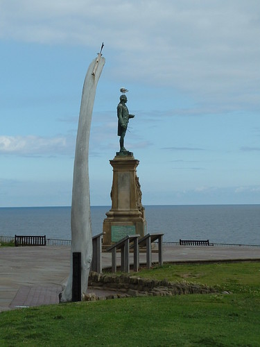 Captain Cook statue, Whitby, North Yorkshire.