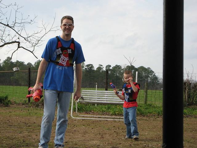 Nerf dart tag with Daddy
