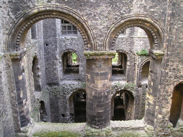 Interior - Rochester Castle, Kent.