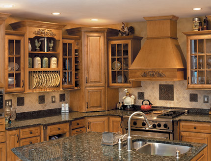 Gourmet kitchen cabinets fieldstone cabinetry flickr for Kitchen cabinets 3d design
