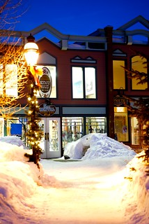 The Town of Breckenridge At Night