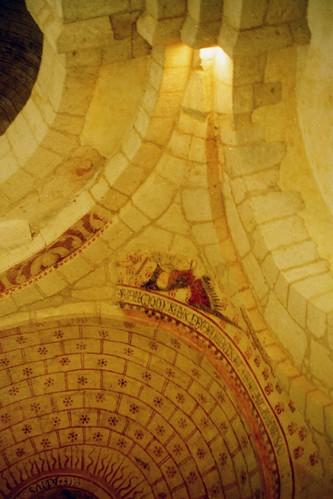 Bourg du Bost church ceiling