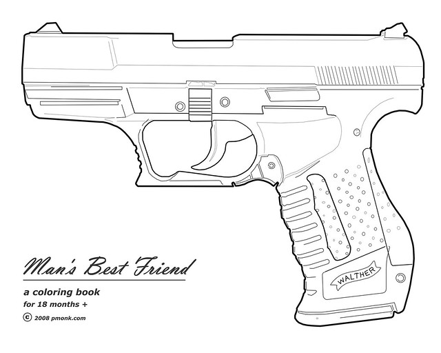 free gun coloring pages - photo#29