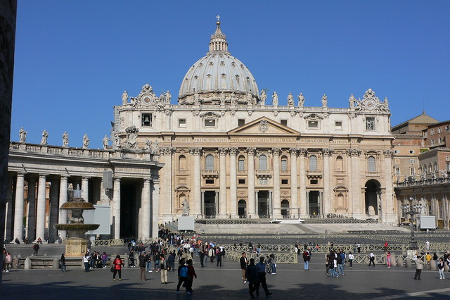 Facade of St. Peter's Basilica in the Vatican City
