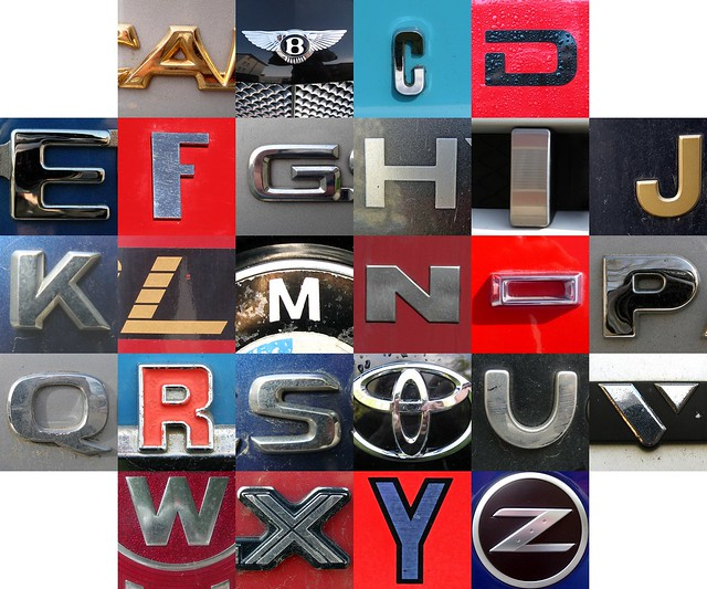 Chrome Letters From Old Cars