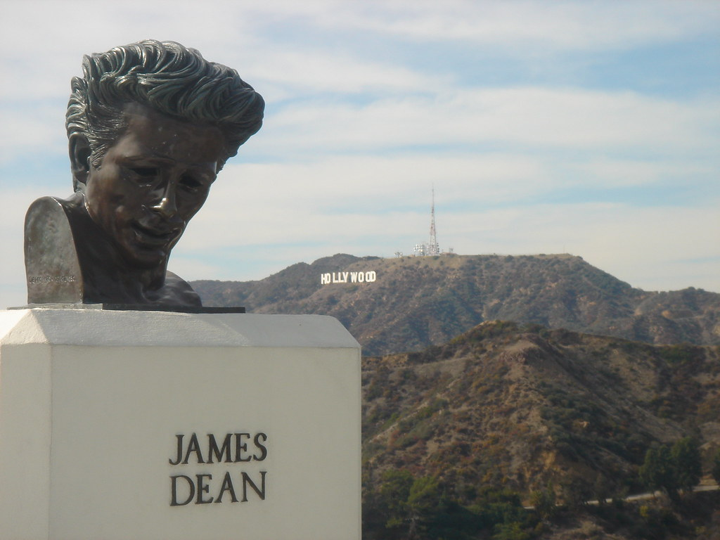 James Dean & Hollywood Sign