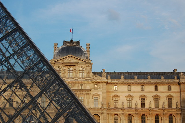 Outside the Musee du Louvre