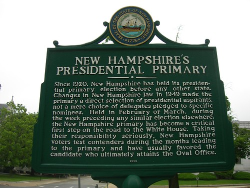 NH Presidential Primary Marker