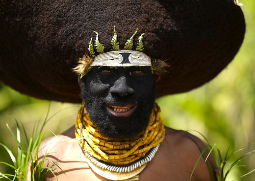 Human hair hat - Papua New Guinea