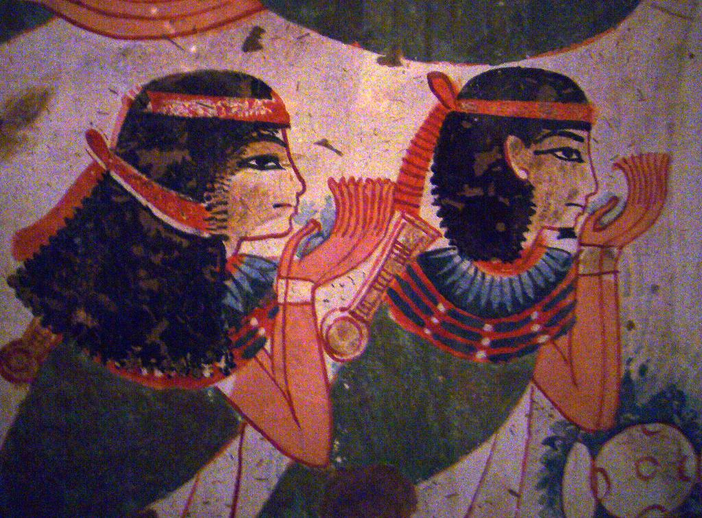 Ancient egyptian mural painting a photo on flickriver for Egypt mural painting
