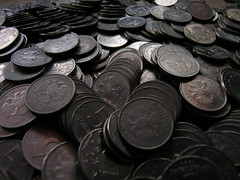 5 roubles coins