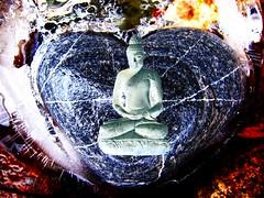 Buddha heartfully stoned